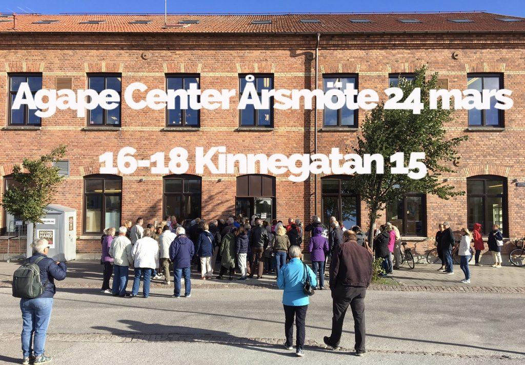 Agape Center - Årsmöte 24 mars 16-18 Kinnegatan 15